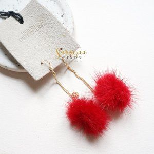 Urban Outfitters Pia Pom Drop Earrings